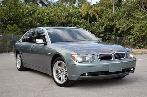 2004 BMW 7 Series for sale at MIAMI IMPORTS in Miami FL