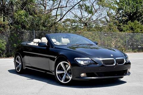2008 BMW 6 Series for sale at MIAMI IMPORTS in Miami FL