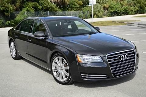 2013 Audi A8 L for sale at MIAMI IMPORTS in Miami FL