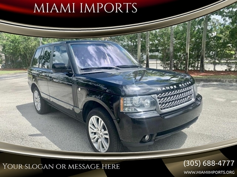 2010 Land Rover Range Rover for sale at MIAMI IMPORTS in Miami FL