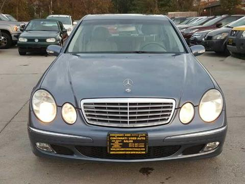 Used 2003 mercedes benz e class for sale in ohio for Used mercedes benz for sale in cincinnati