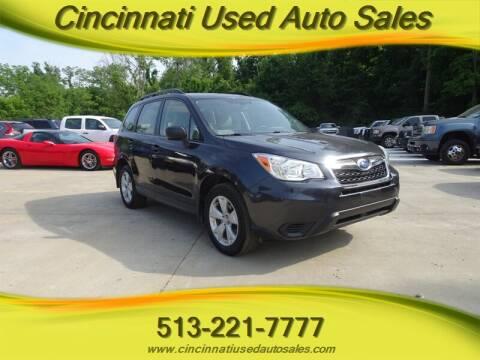 2015 Subaru Forester for sale at Cincinnati Used Auto Sales in Cincinnati OH