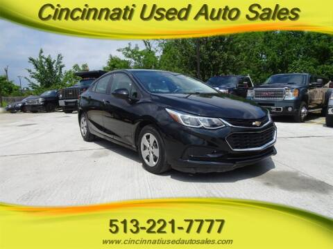 2017 Chevrolet Cruze for sale at Cincinnati Used Auto Sales in Cincinnati OH
