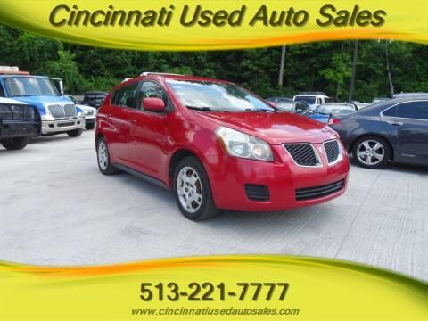 2009 Pontiac Vibe for sale at Cincinnati Used Auto Sales in Cincinnati OH