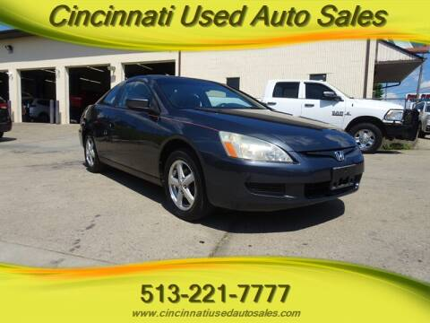 2003 Honda Accord for sale at Cincinnati Used Auto Sales in Cincinnati OH