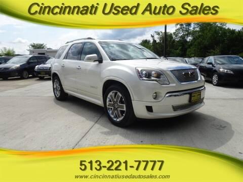 2012 GMC Acadia for sale at Cincinnati Used Auto Sales in Cincinnati OH