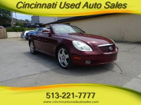 2002 Lexus SC 430 for sale at Cincinnati Used Auto Sales in Cincinnati OH