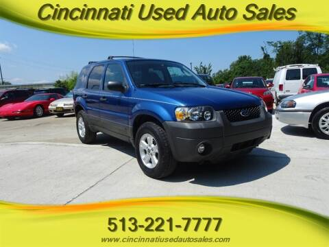 2007 Ford Escape for sale at Cincinnati Used Auto Sales in Cincinnati OH