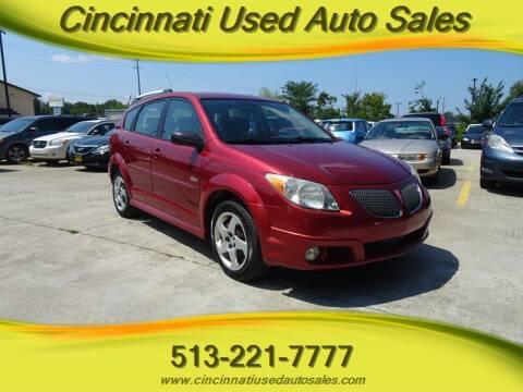 2006 Pontiac Vibe for sale at Cincinnati Used Auto Sales in Cincinnati OH