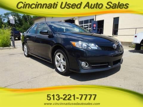 2013 Toyota Camry for sale at Cincinnati Used Auto Sales in Cincinnati OH