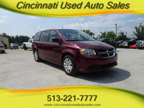 2017 Dodge Grand Caravan for sale at Cincinnati Used Auto Sales in Cincinnati OH