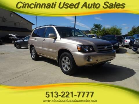 2004 Toyota Highlander for sale at Cincinnati Used Auto Sales in Cincinnati OH