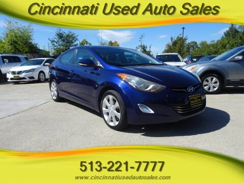 2012 Hyundai Elantra for sale at Cincinnati Used Auto Sales in Cincinnati OH