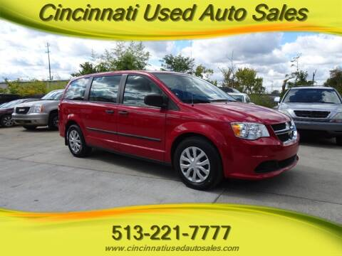 2015 Dodge Grand Caravan for sale at Cincinnati Used Auto Sales in Cincinnati OH