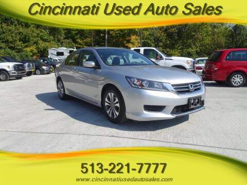 2013 Honda Accord for sale at Cincinnati Used Auto Sales in Cincinnati OH