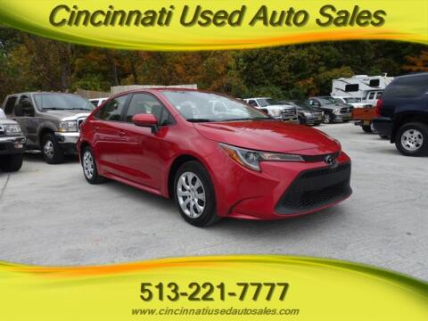 2020 Toyota Corolla for sale at Cincinnati Used Auto Sales in Cincinnati OH