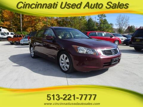2008 Honda Accord for sale at Cincinnati Used Auto Sales in Cincinnati OH