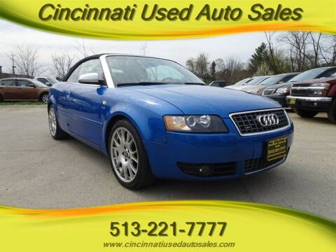2006 Audi S4 for sale at Cincinnati Used Auto Sales in Cincinnati OH
