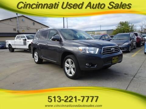 2010 Toyota Highlander for sale at Cincinnati Used Auto Sales in Cincinnati OH