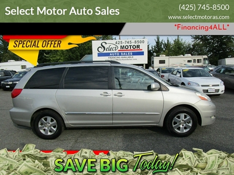 Toyota Sienna For Sale in Lynnwood, WA - Select Motor Auto Sales