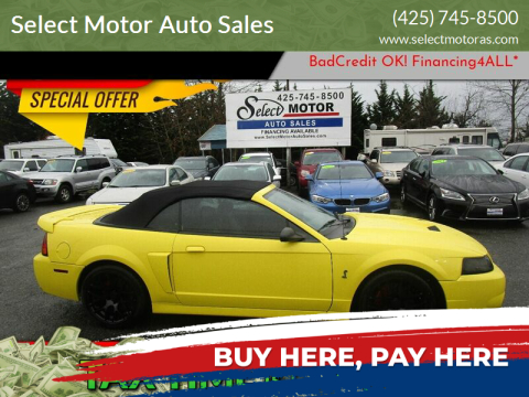 2001 Ford Mustang SVT Cobra for sale at Select Motor Auto Sales in Lynnwood WA