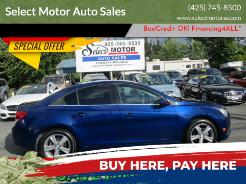 2012 Chevrolet Cruze for sale at Select Motor Auto Sales in Lynnwood WA