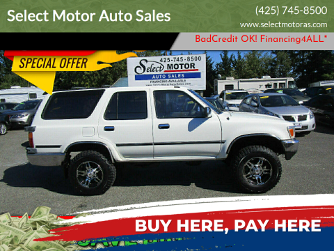 1991 Toyota 4Runner for sale at Select Motor Auto Sales in Lynnwood WA