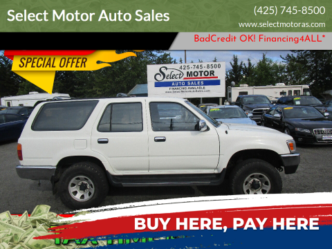 1994 Toyota 4Runner for sale at Select Motor Auto Sales in Lynnwood WA
