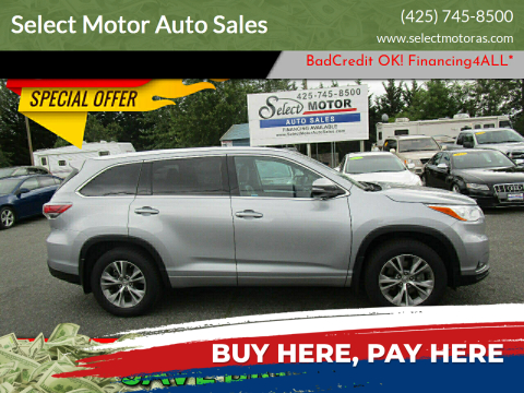 2014 Toyota Highlander for sale at Select Motor Auto Sales in Lynnwood WA