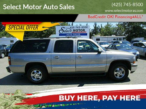 2001 Chevrolet Suburban for sale at Select Motor Auto Sales in Lynnwood WA