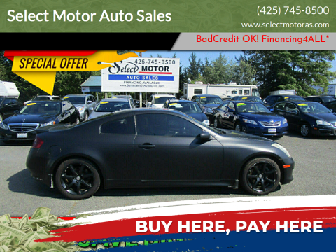 2007 Infiniti G35 for sale at Select Motor Auto Sales in Lynnwood WA