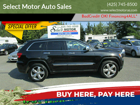 2012 Jeep Grand Cherokee for sale at Select Motor Auto Sales in Lynnwood WA