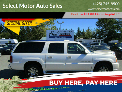 2004 Cadillac Escalade ESV for sale at Select Motor Auto Sales in Lynnwood WA