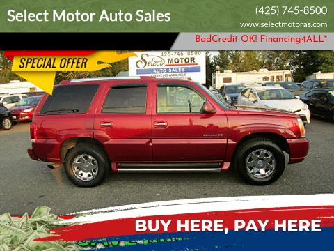 2004 Cadillac Escalade for sale at Select Motor Auto Sales in Lynnwood WA