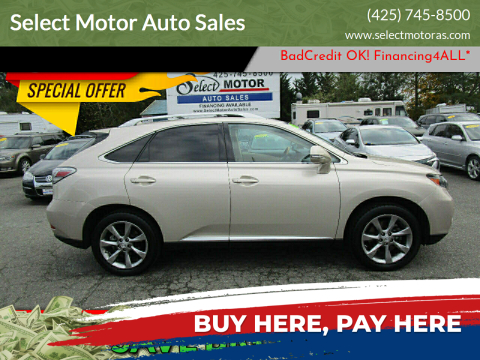 2012 Lexus RX 350 for sale at Select Motor Auto Sales in Lynnwood WA