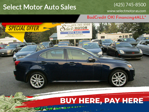 2012 Lexus IS 250 for sale at Select Motor Auto Sales in Lynnwood WA