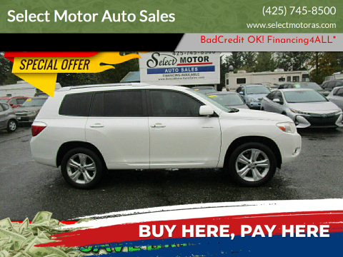 2008 Toyota Highlander for sale at Select Motor Auto Sales in Lynnwood WA