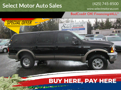 2000 Ford Excursion for sale at Select Motor Auto Sales in Lynnwood WA