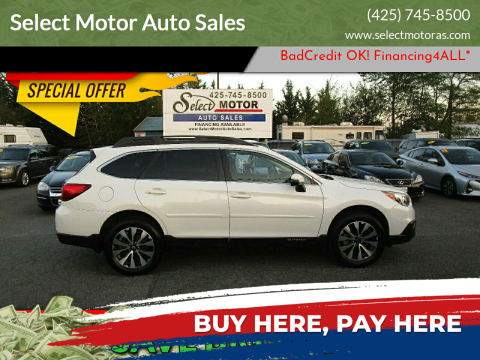 2016 Subaru Outback for sale at Select Motor Auto Sales in Lynnwood WA