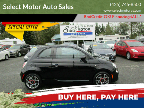 2015 FIAT 500 for sale at Select Motor Auto Sales in Lynnwood WA