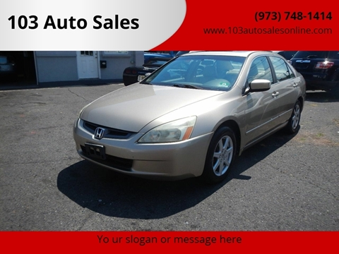 2003 Honda Accord for sale at 103 Auto Sales in Bloomfield NJ