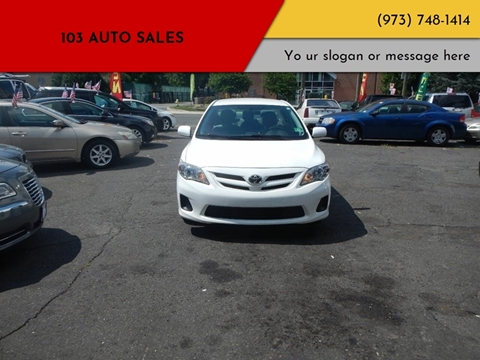 2013 Toyota Corolla for sale at 103 Auto Sales in Bloomfield NJ