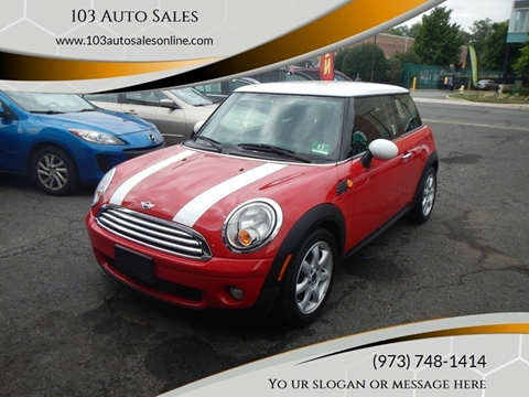 2010 MINI Cooper for sale at 103 Auto Sales in Bloomfield NJ