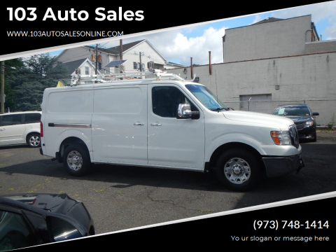 2012 Nissan NV Cargo for sale at 103 Auto Sales in Bloomfield NJ