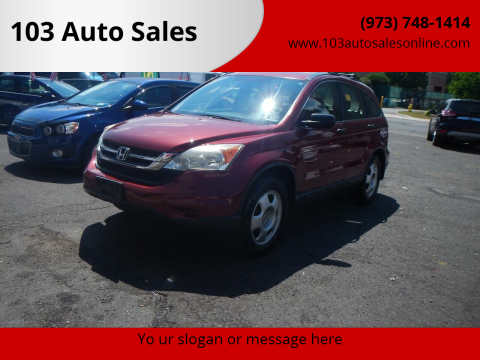 2010 Honda CR-V for sale at 103 Auto Sales in Bloomfield NJ