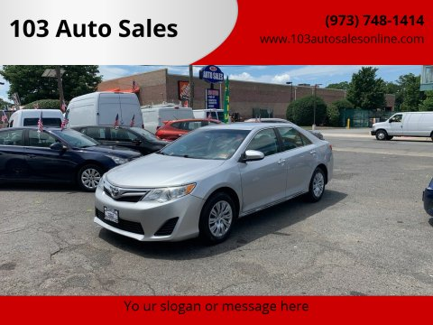 2012 Toyota Camry for sale at 103 Auto Sales in Bloomfield NJ