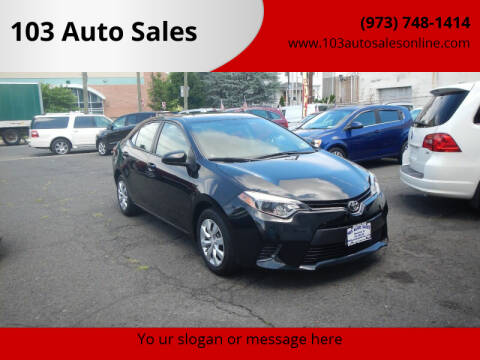 2015 Toyota Corolla for sale at 103 Auto Sales in Bloomfield NJ