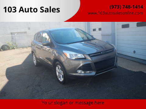 2014 Ford Escape for sale at 103 Auto Sales in Bloomfield NJ