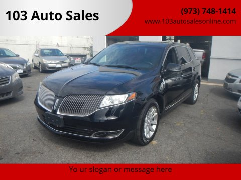 2016 Lincoln MKT Town Car for sale at 103 Auto Sales in Bloomfield NJ