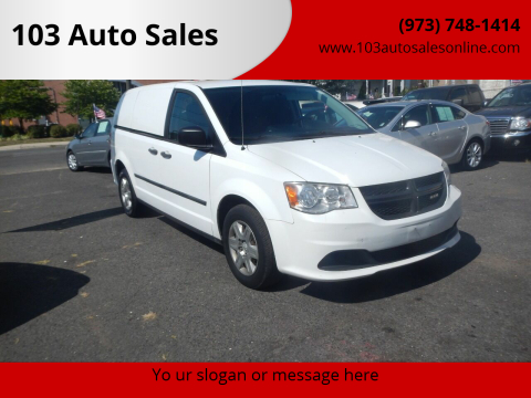 2013 RAM C/V for sale at 103 Auto Sales in Bloomfield NJ